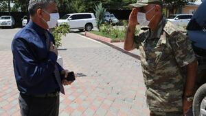 Korgeneral Erbaştan Vali Özkana ziyaret