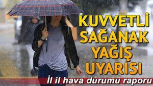 Bugün hava durumu nasıl olacak İstanbul için yağış uyarısı: 8 Temmuz il il hava durumu tahminleri
