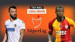 Şampiyonluk şansı sona eren Galatasaray, Alanya deplasmanında Galibiyetlerine iddaada...