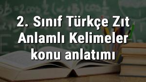 2. Sınıf Türkçe Zıt Anlamlı Kelimeler konu anlatımı