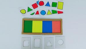Çocuklar renkleri ve şekilleri severek öğrenecek