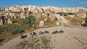 Kapadokya normalleşme sürecinde yabancı turistleri ağırlıyor