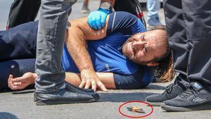 Antalyada dehşet anları 2 polisi bıçakla yaraladı...