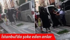 Sultangazide kocasını minibüste başka kadınla yakalayınca çılgına döndü
