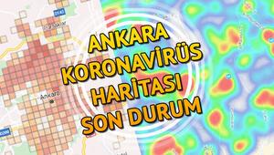 Ankara Koronavirüs tablosu - Ankara ilçe ilçe koronavirüs risk ve yoğunluk haritası