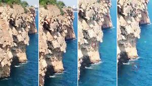 İddia için 40 metreden denize atlayan Rus genç, feci şekilde can verdi