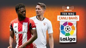 La Ligada gecenin maçı Sevillanın Athletic Bilbao karşısında iddaa oranı...