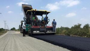 Döşemealtı Yağca Grup Yoluna asfalt