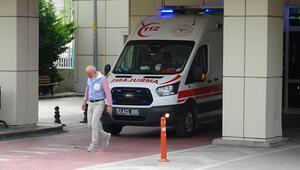 Merdivenle kuyuya inerken düşen işçi, yaralandı