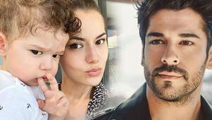 Fahriye Evcenden oğlu Karan ile yeni paylaşım: Babası gibi keskin bakışlım...