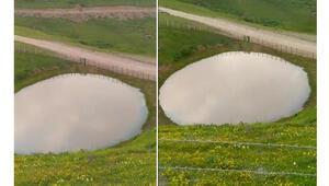 Bakan Kurum görüntüleri paylaştı Dipsiz Göl yeniden hayat buldu