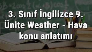 3. Sınıf İngilizce 9. Ünite Weather - Hava konu anlatımı