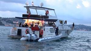 İstanbul Boğazında teknelerde koronavirüs denetimi
