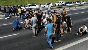 TEM Otoyolunu trafiğe kapatarak eylem yaptılar