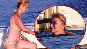 Bikini kazası Songül Karlının zor anları...