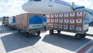Türkiyeden Kazakistana tıbbi malzeme yardımı