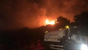 İzmirde korkutan yangın