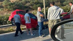 Ters yönde giden araç kazaya neden oldu: 1 ölü, 1 yaralı