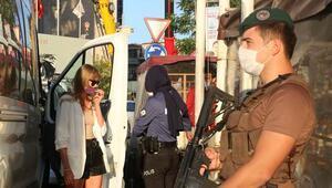 İstanbulda Yeditepe Huzur Denetimi Polis helikopteri havadan destek verdi