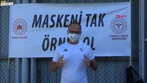 Bursaspordan Maskeni Tak, Örnek Ol kampanyasına destek