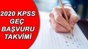 KPSS geç başvurusu ne zaman 2020 KPSS lisans başvuruları bitti