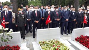 Edirnekapıdaki 15 Temmuz Demokrasi Şehitliğinde anma töreni