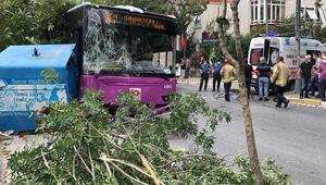 Son dakika haber: Avcılarda halk otobüsü kaza yaptı