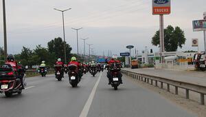 Motosikletlilerden 15 Temmuz sürüşü