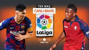 La Ligada şampiyon bu akşam belli olabilir Barcelona kazanırsa iddaada...