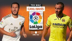 Real Madrid kazanırsa şampiyon Villarreal karşısında galibiyetlerine iddaada...