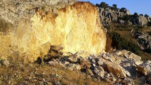 Define uğruna tonlarca kayayı patlattılar