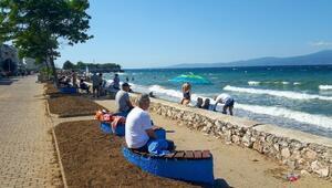 Mudanyada sahiller yenilendi
