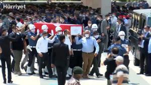 Şehit düşen pilot Samet Üstüner ve polis memuru Mustafa Keskine cenaze töreni