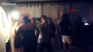 Rezidansta partiye polis baskını