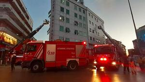 Esenlerde özel hastanede korkutan yangın