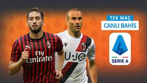 Hakan Çalhanoğlu oynayacak mı Milanın Bologna karşısında iddaa oranı...