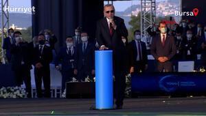 Cumhurbaşkanı Erdoğan,  Gemlikteki şantiyede Yerli Otomobil üretimi inşaatını başlatan düğmeye bastı