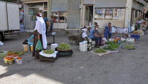 Derikte yerli sebze ve meyve tezgahlarda