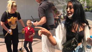 Sokak ortasında çocuğunu dövdü, şikayet üzerine karakola götürüldü