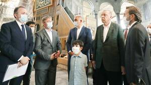 Cumhurbaşkanından Ayasofya'ya sürpriz ziyaret