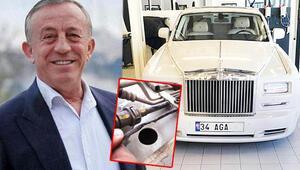 Ali Ağaoğluna fare şoku Milyon euro'luk Rolls Royce Phantom büyük zarar gördü...