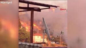 İzmirin Balçova ilçesinde korkutan yangın