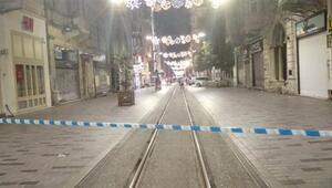 İstiklal Caddesinde şüpheli paket alarmı