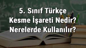5. Sınıf Türkçe Kesme İşareti Nedir Nerelerde Kullanılır Kesme İşareti Kullanımı konu anlatımı