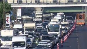 Haliç Köprüsünde trafik yoğun