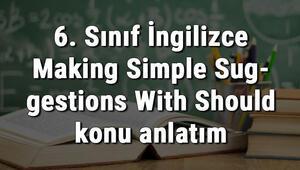 6. Sınıf İngilizce Making Simple Suggestions With Should (Should İle Basit Önerilerde Bulunma) konu anlatımı