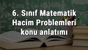 6. Sınıf Matematik Hacim Problemleri konu anlatımı