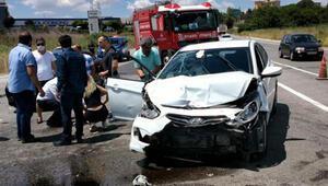 Silivri D-100deki kaza güvenlik kamerasına yansıdı: 7 yaralı