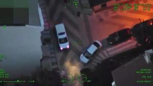 Uyuşturucu satıcılarına yönelik helikopter destekli operasyonlar kamerada