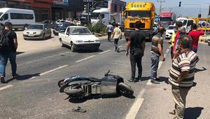Kamyonetin çarptığı elektrikli bisikletin sürücüsü yaralandı